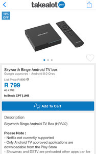 Skyworth Binge Android TV box | Page 15 | MyBroadband Forum