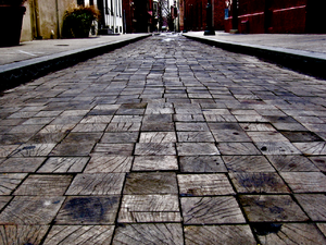This street in Philadelphia is paved with wood.png