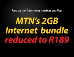 MTN 2GB for R189 promotion extended