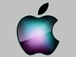 Apple logo colourful