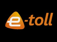 e toll logo feature header black and orange