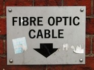 Fibre optic cable sign
