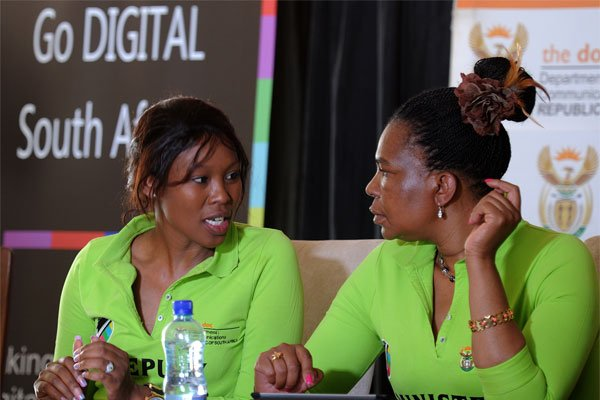 Dina Pule and Stella Ndabeni