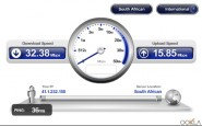 Vodacom LTE speed test - South African server