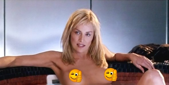 sharon stone topless