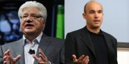 Mike Lazaridis (left) and Jim Balsillie (right)
