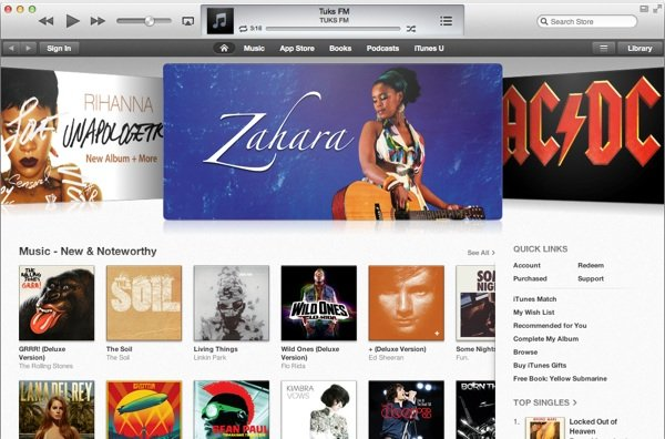 iTunes music South Africa