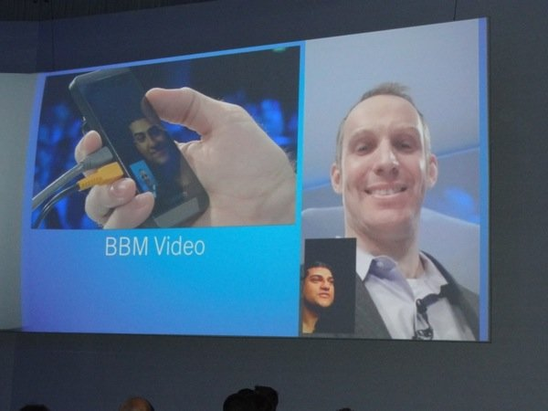 BlackBerry 10 launch - first BBM video call