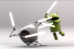 Android vs Apple light saber fight