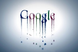 Google logo dripping