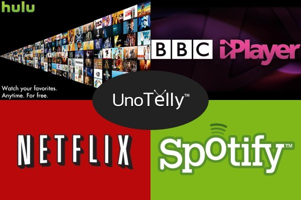 Netflix Hulu Spotify BBC iPlayer UnoTelly online streaming