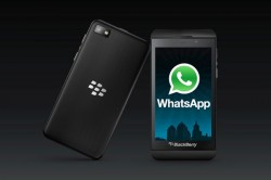 WhatsApp on BlackBerry Z10