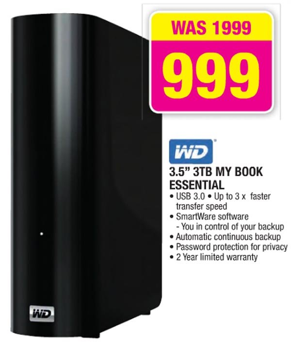 Western Digital 3TB My Book Essential hard drive (Game)