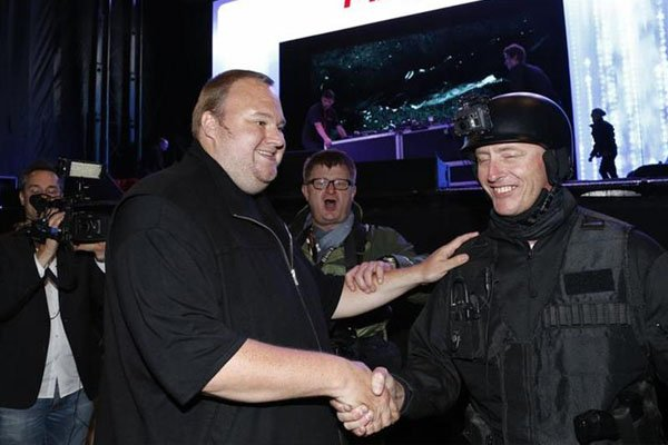 Kim Dotcom at Mega launch