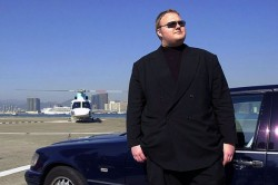 Kim Dotcom looking wealthy