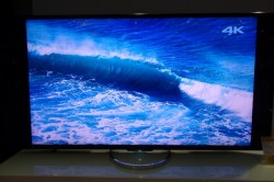 Sony Bravia X 65-inch UHD TV showing 4K ocean wave