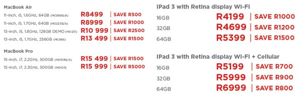 Apple iStore specials