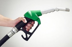 Petrol nozzle in hand