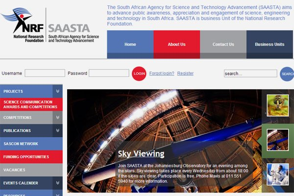 NRF SAASTA website