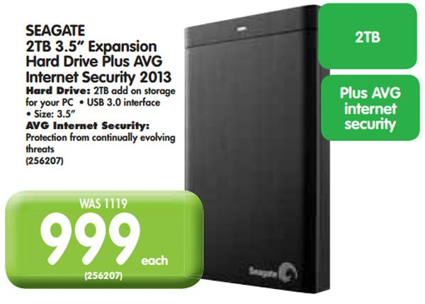 Seagate 2TB expansion hard drive