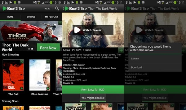 DStv BoxOffice for Android screenshots