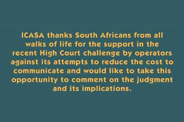 Thank you for supporting us: Icasa