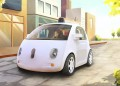 A driverless car is seen in an artist's rendition provided by Google in Mountain View