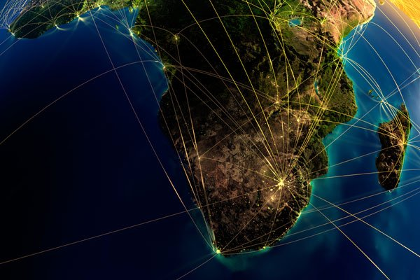 How South Africa is connected to the global Internet