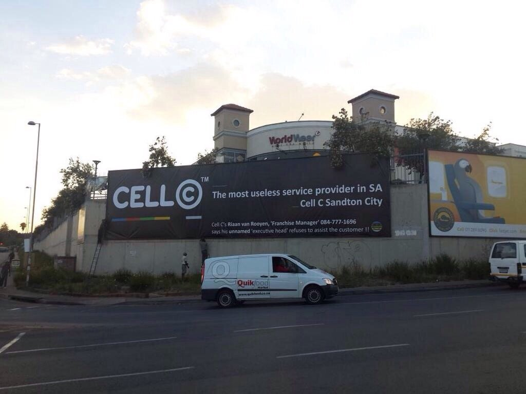 Cell C billboard
