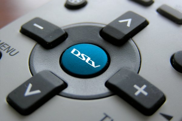 DStv logo on remote
