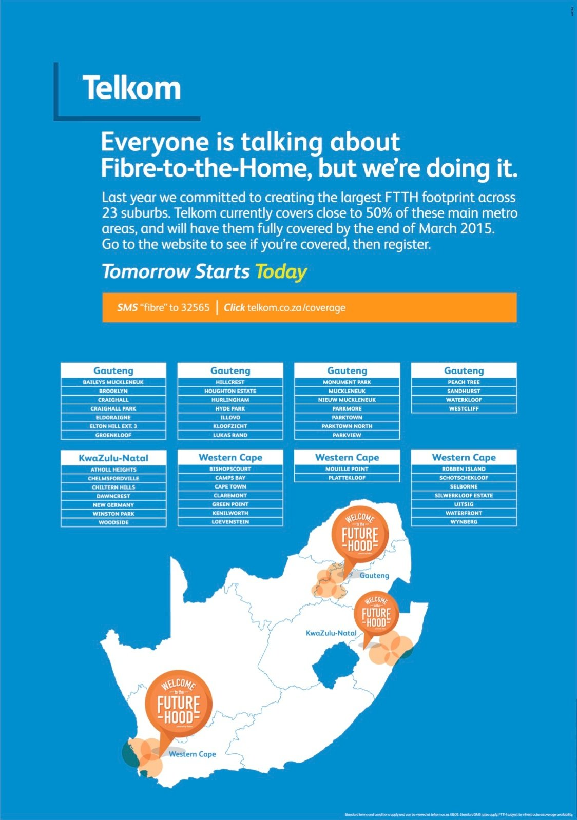 Telkom FTTH advertisement - Sunday Times 8 February 2015