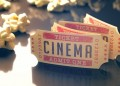 Movie ticket cinema popcorn