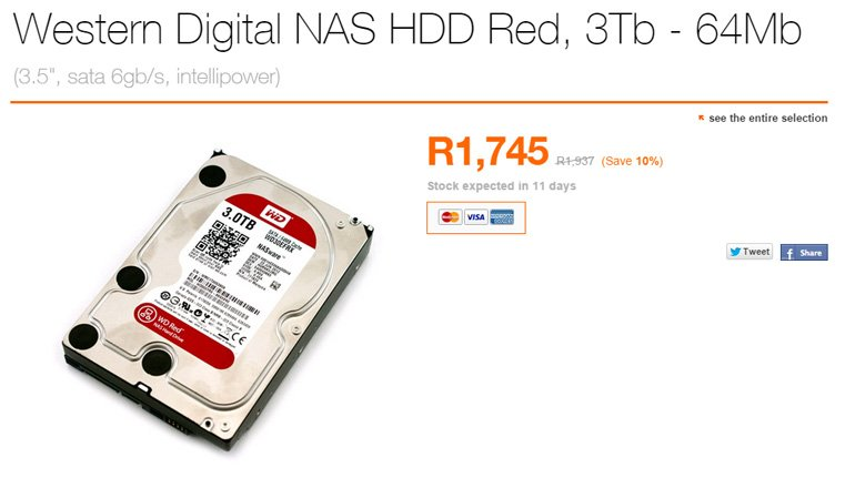 Western Digital 3TB HDD