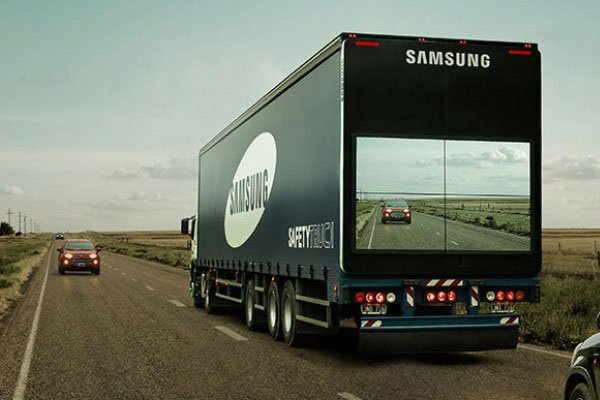 Overtake trucks without having to look for oncoming traffic, thanks to Samsung
