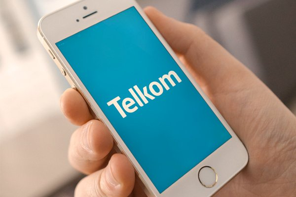 Telkom logo phone in hand