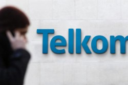 Telkom logo on wall