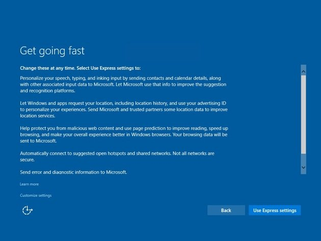 Windows 10 install - Configure system after first boot