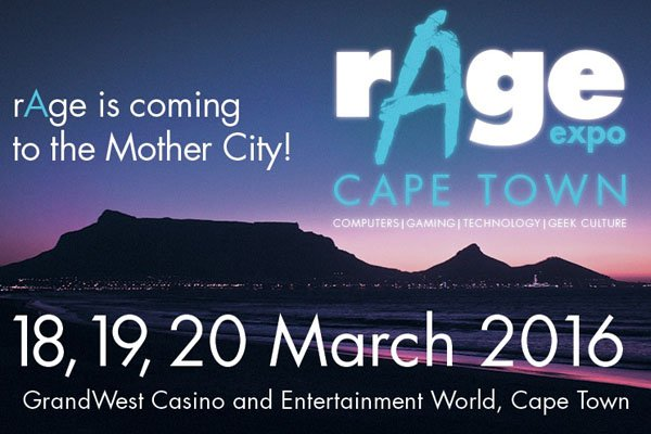 rAge gaming expo is coming to Cape Town