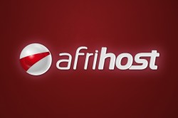 Afrihost logo on red wall