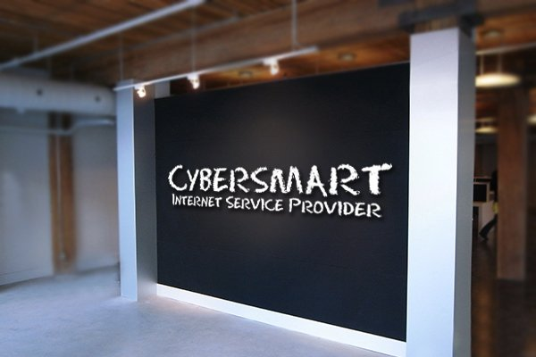Cybersmart logo on wall