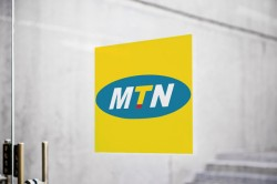 MTN logo on glass door