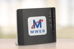 MWEB logo on router