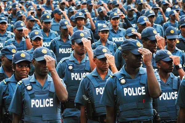 South African police officers SAPS