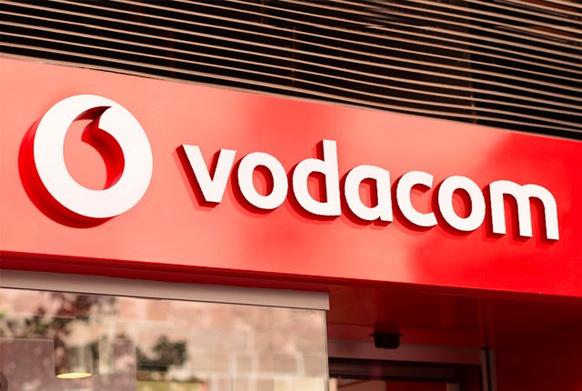 Vodacom logo outside