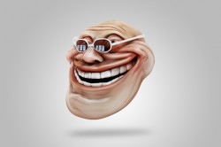 Floating troll face