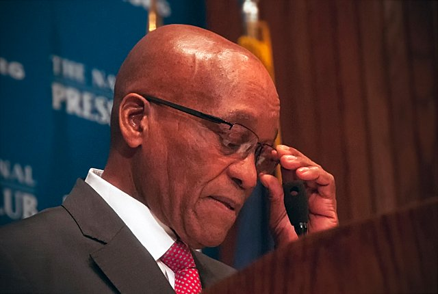 Jacob Zuma in Germany speaking