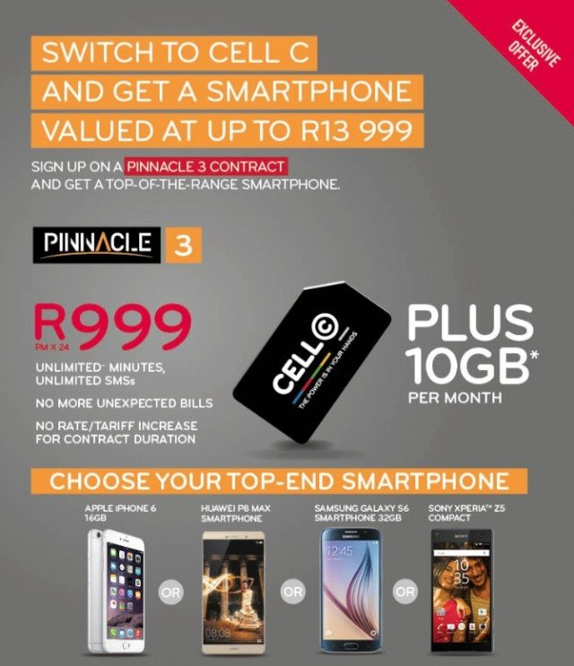 Cell C Pinnacle 3 deals