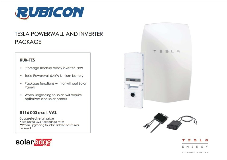 Tesla Powerwall Price >> Tesla Powerwall Prices For South Africa Revealed