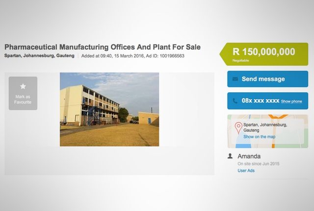 Weird expensive OLX Pharmaceutical Manufacturing