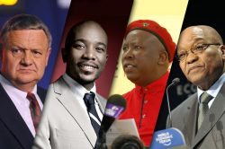 Political leaders FF Plus DA EFF ANC